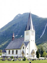 De hoofdkerk van Stordal uit 1907
