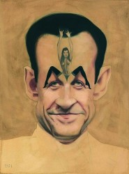 """Ook individuele burgers kunnen een spotnaam hebben : de Franse president Nicolas Sarkozy als de """"vrouwenloper"""""""