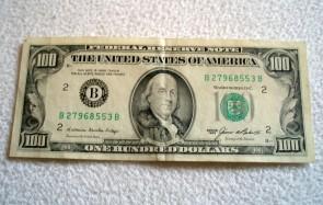 Geld 100 dollar